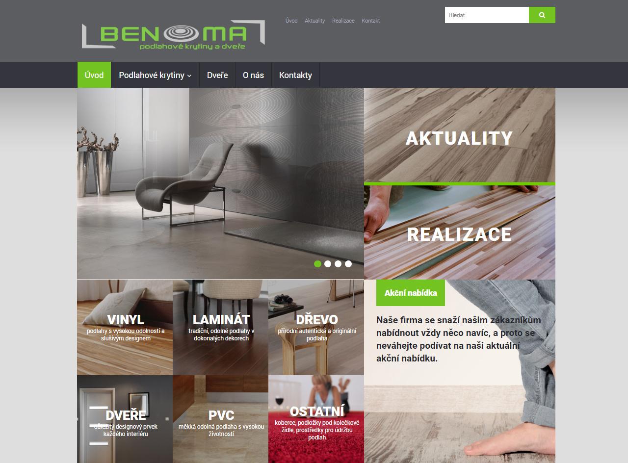 Benoma- webové stránky - grafická úprava, realizátor IT-Support